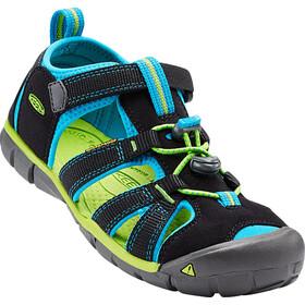 Keen Seacamp II CNX Sandals Ungdom black/blue danube